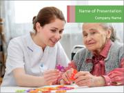 Elder care nurse PowerPoint Templates