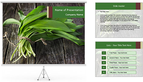 Ramson bunch PowerPoint Template