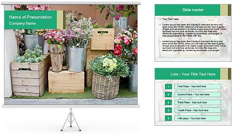 Flower Shop PowerPoint Template