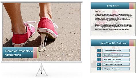 Foot stuck PowerPoint Template