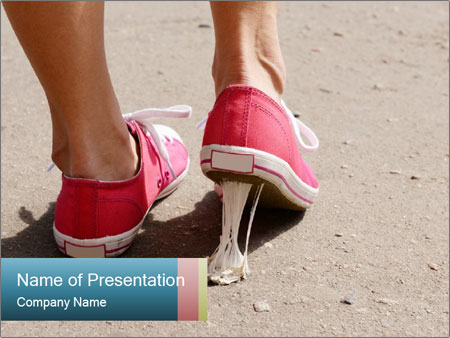 Foot stuck PowerPoint Template