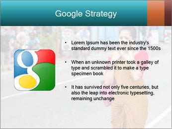 Beautiful woman dressed in sari PowerPoint Template - Slide 10
