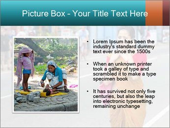 Beautiful woman dressed in sari PowerPoint Template - Slide 13