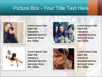 Beautiful woman dressed in sari PowerPoint Template - Slide 14