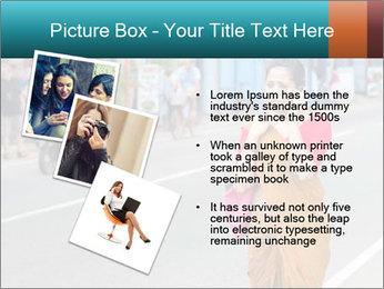 Beautiful woman dressed in sari PowerPoint Template - Slide 17