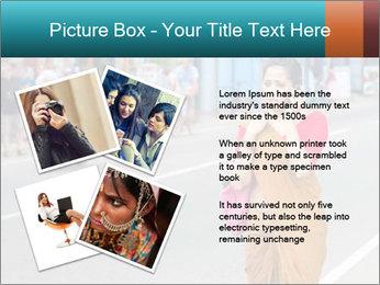 Beautiful woman dressed in sari PowerPoint Template - Slide 23