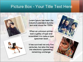 Beautiful woman dressed in sari PowerPoint Template - Slide 24