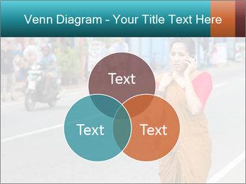 Beautiful woman dressed in sari PowerPoint Template - Slide 33