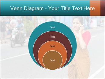 Beautiful woman dressed in sari PowerPoint Template - Slide 34