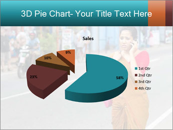 Beautiful woman dressed in sari PowerPoint Template - Slide 35