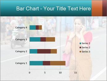 Beautiful woman dressed in sari PowerPoint Template - Slide 52