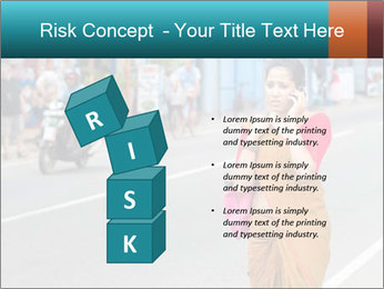 Beautiful woman dressed in sari PowerPoint Template - Slide 81