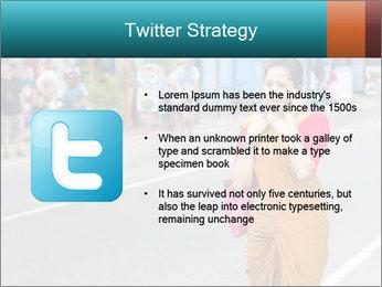 Beautiful woman dressed in sari PowerPoint Template - Slide 9