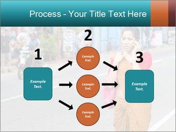 Beautiful woman dressed in sari PowerPoint Template - Slide 92