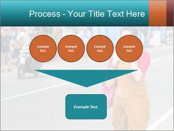 Beautiful woman dressed in sari PowerPoint Template - Slide 93