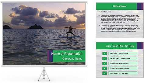 Woman doing yoga PowerPoint Template