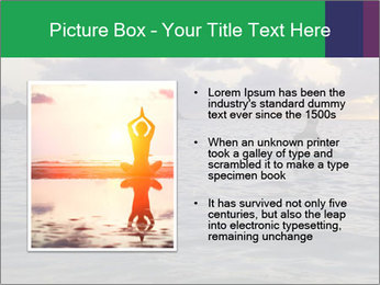 Woman doing yoga PowerPoint Template - Slide 13