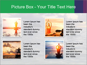 Woman doing yoga PowerPoint Template - Slide 14