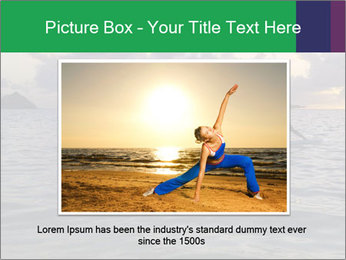 Woman doing yoga PowerPoint Template - Slide 16