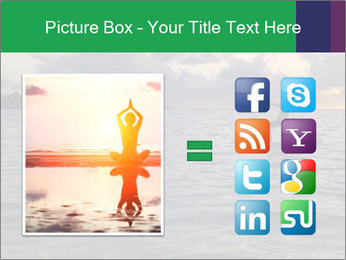 Woman doing yoga PowerPoint Template - Slide 21