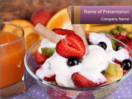 Fresh fruits PowerPoint Template