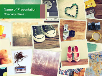 Mosaic with pictures PowerPoint Template - Slide 1