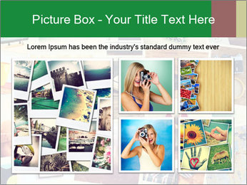 Mosaic with pictures PowerPoint Template - Slide 19