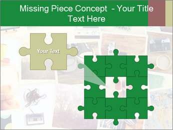 Mosaic with pictures PowerPoint Template - Slide 45