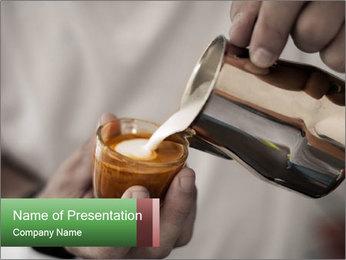 Latte Art Coffee PowerPoint Template - Slide 1