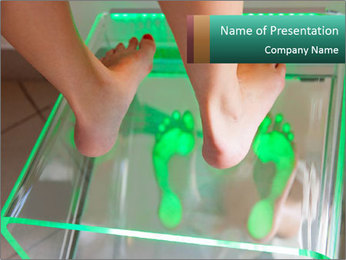 Examining feet PowerPoint Template