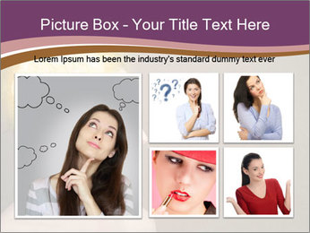Young girl thinking PowerPoint Template - Slide 19