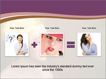 Young girl thinking PowerPoint Template - Slide 22