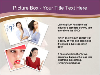 Young girl thinking PowerPoint Template - Slide 23