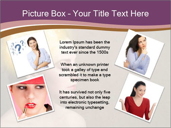 Young girl thinking PowerPoint Template - Slide 24