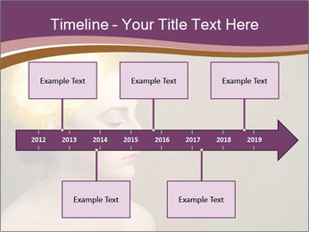 Young girl thinking PowerPoint Template - Slide 28