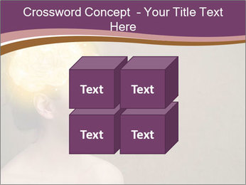 Young girl thinking PowerPoint Template - Slide 39