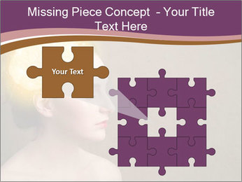 Young girl thinking PowerPoint Template - Slide 45