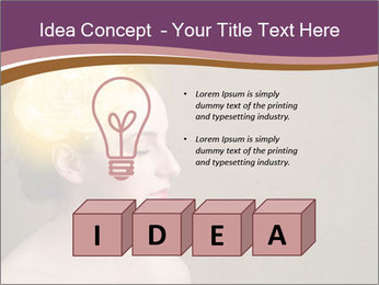 Young girl thinking PowerPoint Template - Slide 80