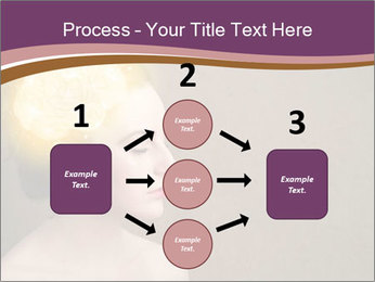 Young girl thinking PowerPoint Template - Slide 92
