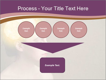 Young girl thinking PowerPoint Template - Slide 93