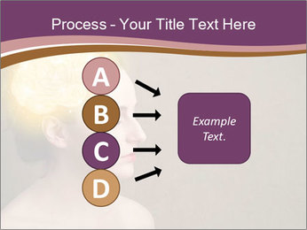 Young girl thinking PowerPoint Template - Slide 94