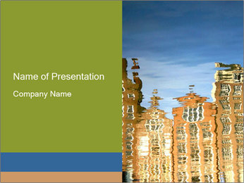 River reflections PowerPoint Template - Slide 1