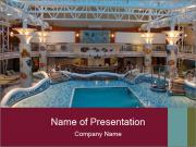 Indoor swimming pool PowerPoint Templates