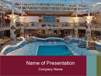 Indoor swimming pool PowerPoint Templates - Slide 1