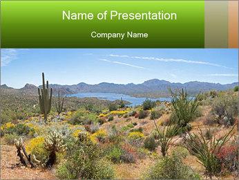 Blooming Desert PowerPoint Template
