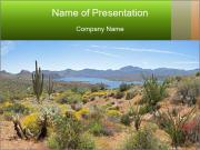 Blooming Desert PowerPoint Templates