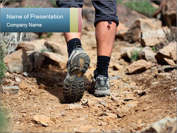 Hiking shoes PowerPoint Template - Slide 1