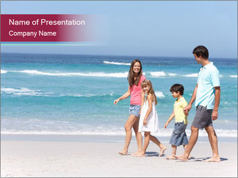 Family Walking PowerPoint Template - Slide 1