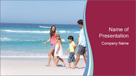 Family Walking PowerPoint Template