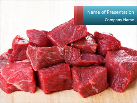 Raw beef PowerPoint Templates